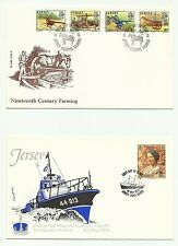 JERSEY 1975  5 DIFFERENT UNADDRESSED FIRST DAY COVERS