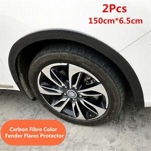 1.5M*6.5cm Car Wheel Eyebrow Fender Flares Protector Rubber Moulding Strip Trim