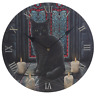 SACRED CIRCLE WALL CLOCK BY LISA PARKER GOTHIC WICCA PAGAN BLACK CAT