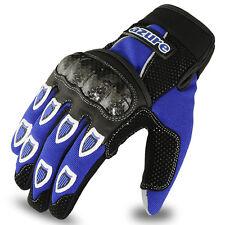 Motocross BMX Gloves Racing Motor Cycling, Offroad, Enduro, MTB, Blue, XL