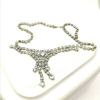 Vintage Rhinestone Necklace Short Length Sparkly Bridal Jewellery Wedding