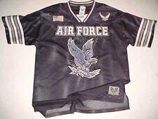 U.S. Air Force Usaf Logo Eagle Flag Black Silver White Football Jersey L New