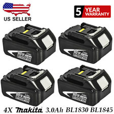 4X18V 3.0Ah REPLACE BL1830 BATTERY LXT400 LITHIUM-ION FOR Makita BL1845 CORDLESS