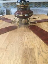 Wood Effect Large Ceiling Fan 230v- 50Hz