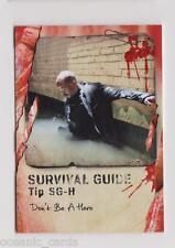 TOPPS THE WALKING DEAD SURVIVAL BOX PREMIUM INSERT CARD SURVIVAL GUIDE SG-H