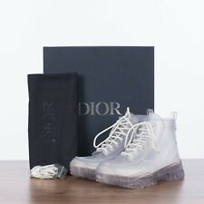 DIOR HOMME 950$ Translucent White High-Top Rubber Boots