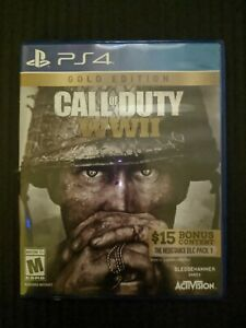 Call of Duty: WWII Gold Edition  (Sony PlayStation 4, 2017) COD WW2 PS4 Game