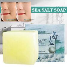 100g Sea Salt Soap Body Whitening Acne Oil-Control Clean Skin Shrinks Pores New