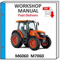 KUBOTA M6060 M7060 TRACTOR SERVICE REPAIR WORKSHOP MANUAL