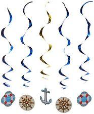 Cruise Ship Whirls Nautical Boating Bon Voyage Party Hanging Decorations 5 Pc