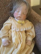 1987 Connie  SLEEPING BABY DOLL,BISQUE HEAD, Feet ,hands ,SOFT HEAVY SAND BODY