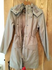 Womens North Face Rain Coat Jacket Miage Parka Dune Beige Waterproof Large L