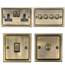 Trimline Antique Bronze TAB3 Light Switches, Plug Sockets, Dimmers, Cooker, Fuse