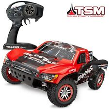 Traxxas 68086-4 Slash 4x4 VXL Brushless RTR RC Truck RED w/TSM #25 MARK JENKINS