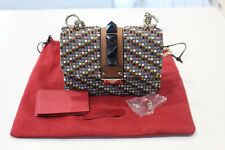 New - Valentino Lock It Rockstud Small Multi Colour Crystal Shoulder Bag
