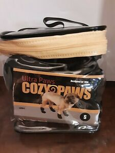 Ultra Paws Cozy Paws Dog Fleece Boots Black Size Small