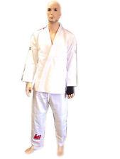 Woldorf usa Bjj jiu jitsu uniform gi student in white color flags on shoulders