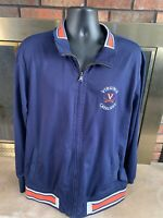 Vintage Virginia University Cavaliers NCAA Track Warmup Jacket Mens Size XXL