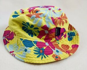 Patagonia Infant Baby Sun Bucket Hat 3-6 Month Reversible Flowers Seashells