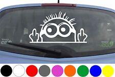 WD Autoaufkleber Minion Stinkefinger Tuning Aufkleber Sticker Decal Heckscheibe