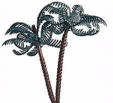 3 Plastic Palm Trees Birthday Cake Topper Decoration