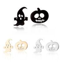 1Pair Fashion Women Earring Pumpkin Halloween Ghost Ear Stud Earrings Jewelry