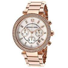 Nuevo Genuino MK5774 39 mm Parker Michael Kors Dial Blanco Oro Rosa Reloj De Señoras de Reino Unido