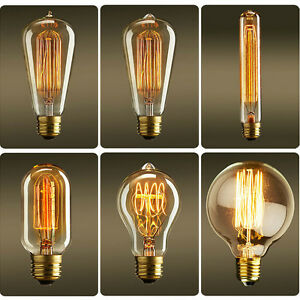 E27 B22 40W Vintage Filament Edison Dimmable Industrial Style Light Bulbs Indoor