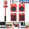 1 Set Universal Heavy Furniture Mover Tool Lifter Wheels Moving Kit with Stick