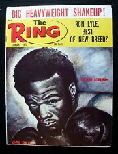 JAN 1973 RING MAGAZINE - GEORGE FOREMAN COVER; RON LYLE, BEST OF NEW BREED?