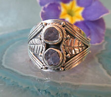 Ring Leaf Tanzanite Blue Birthstone of the Month December Sterling Silver 925