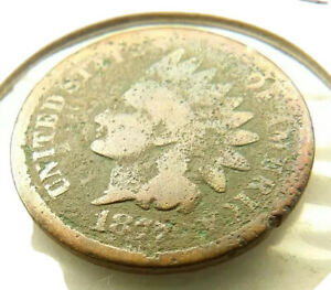 1877 INDIAN HEAD PENNY COIN + FREE SHIPPING!