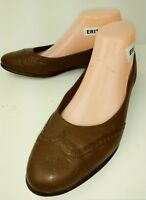 Bass SYMPHONY Wos Loafers GH Bass Co US 8.5 M Brown Leather Wing Tip Flats 977