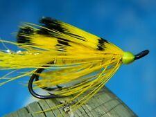Yellow Ally's shrimp double hook fly Atlantic Salmon / Steelhead Size #4