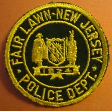 RARE ORIGINAL 2nd DESIGN FAIR LAWN NEW JERSEY POLICE PATCH RARE