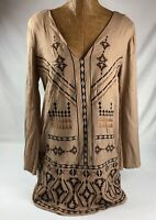 Marabelle Womens Embroidered Tunic Dress Size M