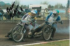 BYRON Bekker mano firmato Scunthorpe SCORPIONI Speedway gioco 6x4 Foto 1.