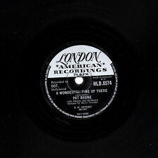 """UK 1958 No. 2  PAT BOONE 78 """" A WONDERFUL TIME UP THERE """" LONDON HL-D 8574 V+/E-"""