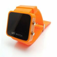 LED RETRO FASHION DIGITAL MENS/LADIES/GIRLS/BOYS JELLY WRIST WATCH Orange