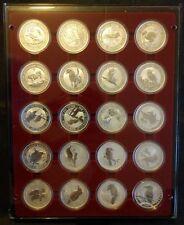 2009 Australian Kookaburra - 20th Edition Silver Coin Set - 20x 1 oz BU Coins