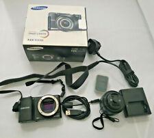 Samsung NX1000 Negro Cámara con lente de 20-50mm Caja Original Flash