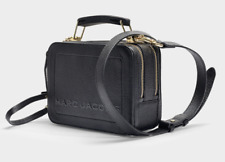 BNWT Marc Jacobs Mini Box 20 BLACK Leather Cross-Body Bag