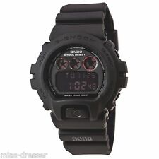 Casio DW6900MS-1 Men's G-Shock Military Alarm Black Resin Sports Watch 200M NEW