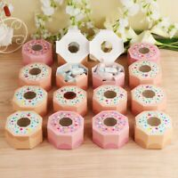10×Hexagon Gift Box Donut Party Paper Candy Box Baby Shower Kids Birthday Supply