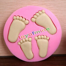 3D Baby Feet Silicone Fondant Mould Chocolate Cake Decorating Clay Baking Mold