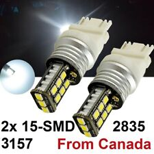 2x 3157 T25 2835 15SMD Led Turn Tail Signal Bulb car RV Led Lights White 12V