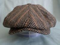 BROWN 1900,S 1920,S 1930,s RETRO VICTORIAN EDWARDIAN PEAKY BLINDERS CAP