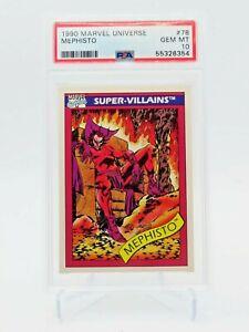 1990 Marvel Universe Mephisto #78 PSA 10 GEM MINT Series 1 POP 17