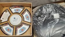 MIB Smithsonian Institution Imari Ware Porcelain Set - Lazy Susan