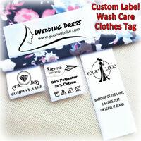 "240pcs 1.2×2"" Sew In Label Custom Design Satin Ribbon Clothes Garment Handcraft"